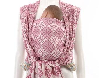 Woven Baby Wrap - Daiesu Manggis Fuschia - Baby Wrap - Baby Carrier - Woven Wrap Baby Carrier