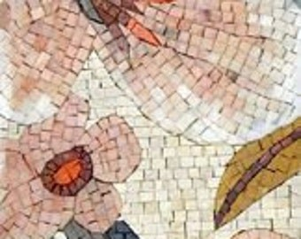 Lovely Floral Decorative Mosaic Stone Art