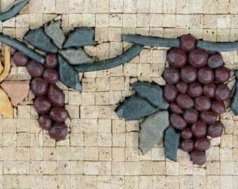 Rustic Kitchen Backsplash - Grape Vine