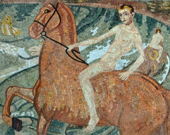 "Kuzma Vodkin ""Bath Of The Red Horse"" - Mosaic Reproduction"