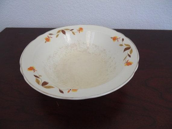 """Autumn Leaf China 9"""" Ruffled Round Vegetable Bowl"""