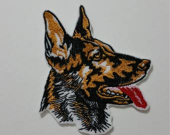 German Shepherd dog iron on or sew on patch German Shepherd applique Dog patches Dog applique Dog embroidery Dog sew on patch Animal patches