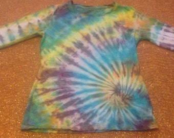 Women's Size Small Up-Cycled Tie Dye Long Sleeve T-Shirt