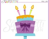 60% OFF Birthday Cake Single Clipart Commercial Use License Included
