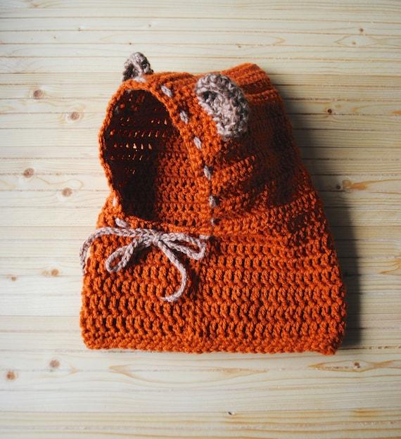 Ewok Hat: Knit Bear Hoodie Ewok Hoodie Star Wars Baby Ewok Hat