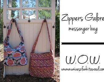 Zippers Galore Messenger Bag PDF Sewing Pattern