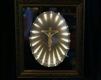 Vintage Crucifix Infinity Light