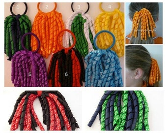 KORKER RIBBON HAIR Tie, Ribbon Hair tie, Cheerleading Hair Tie, School Colours, School Hair Ties, Ponytail Streamer, Ponytail Holder,