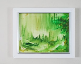 Tropical Forest Landscape Original Painting Tropical Decor Framed Original Art Framed Landscape Painting Abstract Landscape