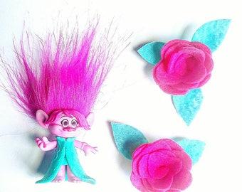 Pink Princess Poppy  Hair Accessory Set