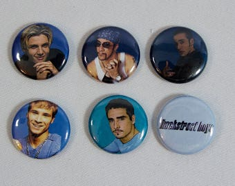 "Backstreet Boys 1"" Spring-pin Button Set"
