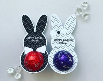 Monochrome Easter bunny egg holder
