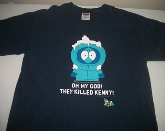 SOUTH PARK t shirt 1998 OMG They killed Kenny!