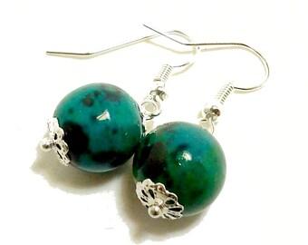 Chrysocolla Gemstone Earrings
