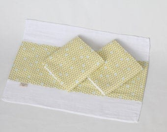 Mod Triangle Organic Burp Cloth Set (3)