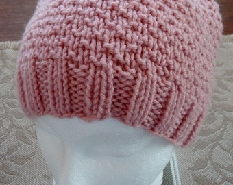 Knit Hat, Light Pink, Women, Teen, Girl