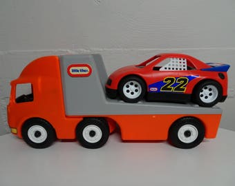 "Little Tikes Semi Tractor Trailer Truck Hauler 23"" - FREE SHIPPING"