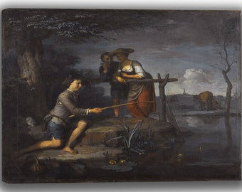 Carel de Moor (II): The Angler. Fine Art Canvas. (04033)