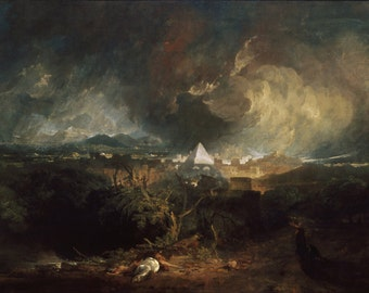 Joseph Mallord William Turner: The Fifth Plague of Egypt. Fine Art Print/Poster. (004054)