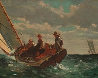 Winslow Homer: Breezing Up. Fine Art Print/Poster. (004100)