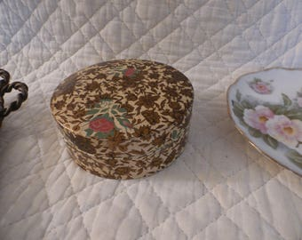 Stacking Chintz Coaster Set Made in Japan Alcohol Proof Floral