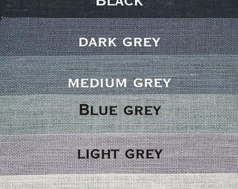 BLACK/GRAYS Burlap Color Selections - this is not a purchase listing!