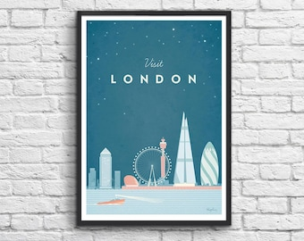 Art-Poster 50 x 70 cm - London Travel Poster