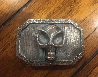 Sterling silver abstract alien belt buckle handmade