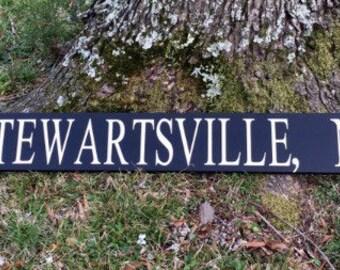 Custom City,State Sign