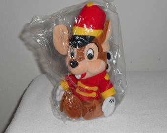 "Disney Beanbag Plush ""Timothy Q Mouse""Friend of Dumbo The Elephant/Factory SealedWith Mouseketoys Disneyland Tags!Theme Park Exclusive"
