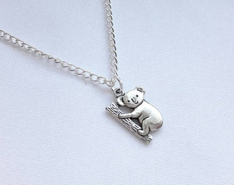Koala bear necklace, australia jewellery, animal jewelry, animal necklace, personalised jewellery, kids necklace, mothers day gift