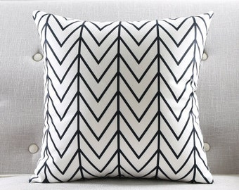 decorative pillow cushion cover black white pillow throw pillow sham