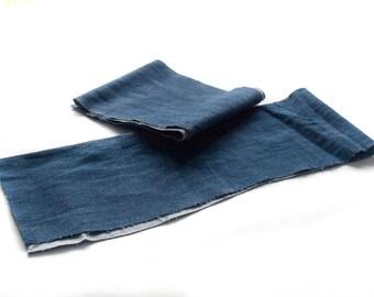 5 Dark Blue Denim Strips
