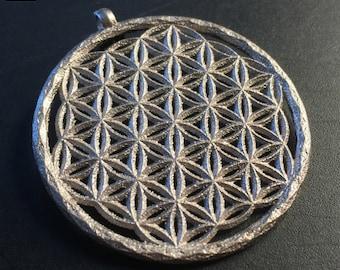 Flower of Life pendant, Sacred Geometry - 3D Printed.