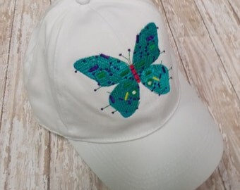 Circuit board butterfly hat, embroidered, tech baseball cap, gamer chick, IT gift, computer geek gifts, geekery, IT grad, cyber punk lids