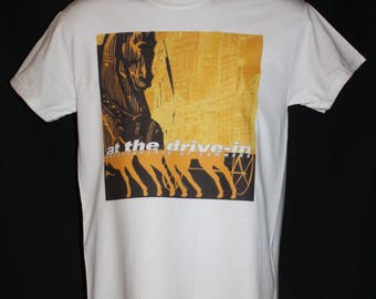 at the drive in relationship of command t-shirt 1990s retro vtg vintage 90s indie rock alternative atdi mars volta