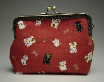 "clip purse ""calico"""