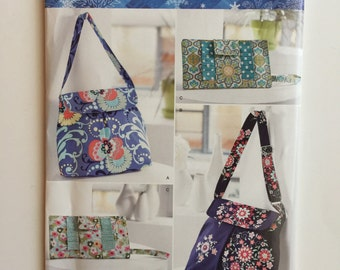 Purse pattern, clutch pattern, shoulder bag pattern, Simplicty Pattern 0386 - Destash Sewing Pattern
