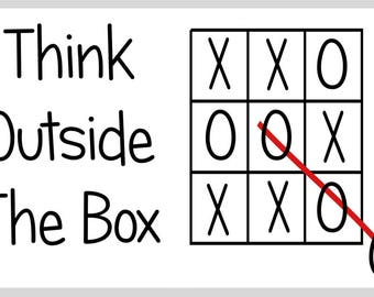 Think Outside The Box Funny Unique Magnet