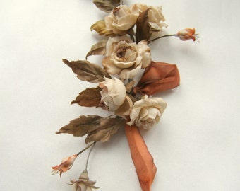 Sprig of roses in vintage style for the doll