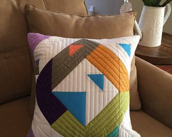 Modern-Traditional Quilted Pillow Cover