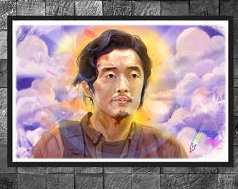 The Walking dead Glenn Rhee Art print Poster Steven Yeun Home decor