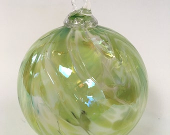 Green Hand Blown Glass Ornament
