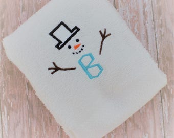 Winter Embroidery Pattern - Embroidery File - Embroidery Machine Design - Snowman Pattern - Machine Embroidery Design - Embroidery Download