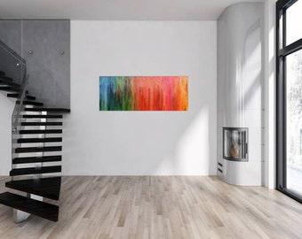 Modern abstract artwork in XXL by Alexander Zerr acrylic on canvas 60x150cm #812