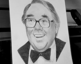 Ronnie Corbett pencil drawing