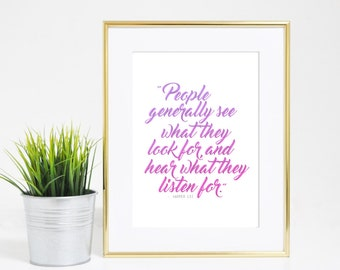 8x10 Harper Lee Inspirational Quote Print - Digital Download