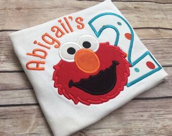 Personalized Elmo birthday shirt, 1st/2nd birthday