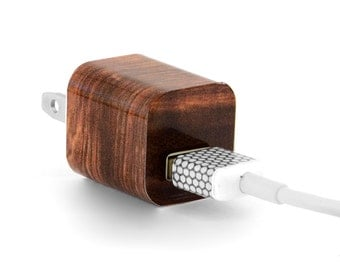 TechTattz Wood Pattern USB Charger Decal Skin Wrap Sticker