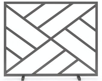 standard metal fireplace screen